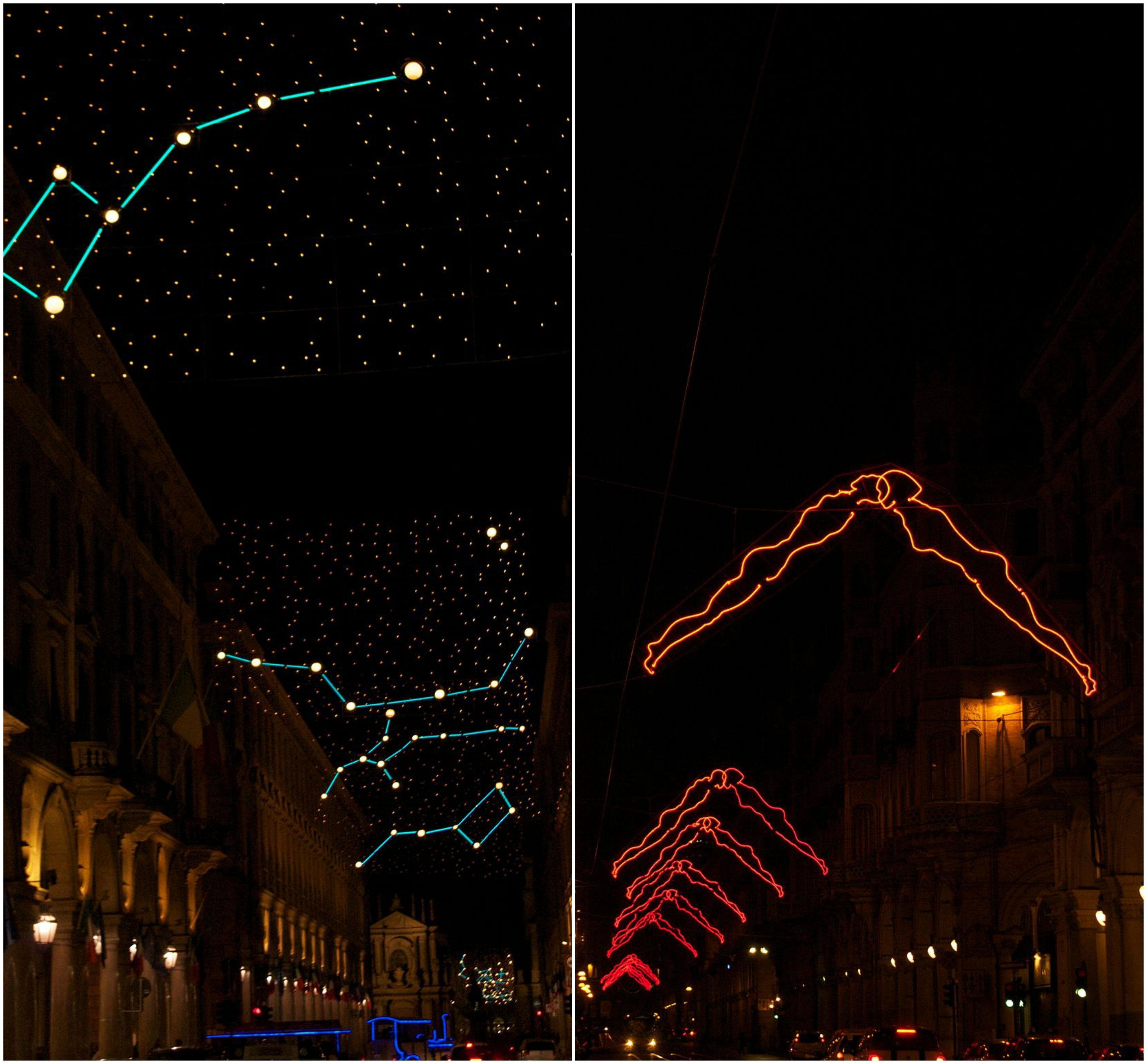 Außergewöhnliche Weihnachtsbeleuchtung.Erkunden Sie Diese Prächtige Stadt In Der Vorweihnachtszeit
